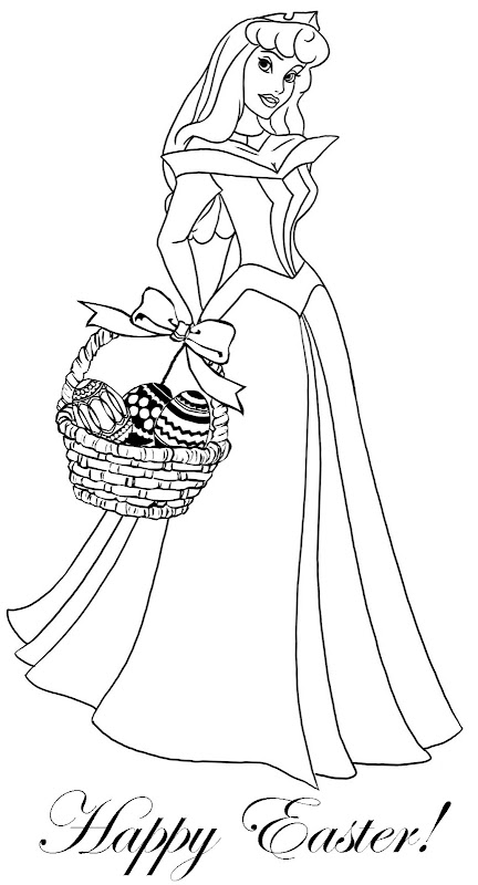 EASTER PRINCESS COLORING PAGES TANGLED AND SLEEPING BEAUTY title=