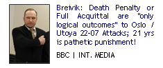 Breivik: Death Penalty or Full Acquittal are