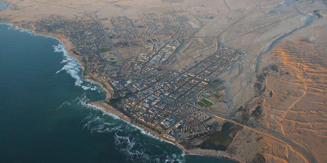 Aerial view of Swakopmund, Namibia