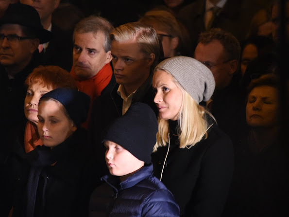 Crown Princess Mette-Marit of Norway, Princess Ingrid Alexandra of Norway and Prince Sverre Magnus of Norway