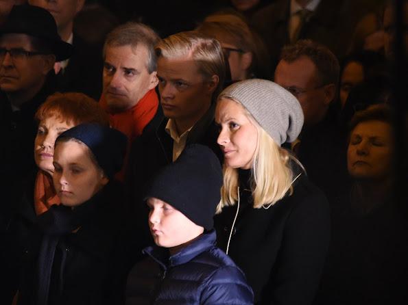 Crown Princess Mette-Marit of Norway, Princess Ingrid Alexandra of Norway and Prince Sverre Magnus of Norway