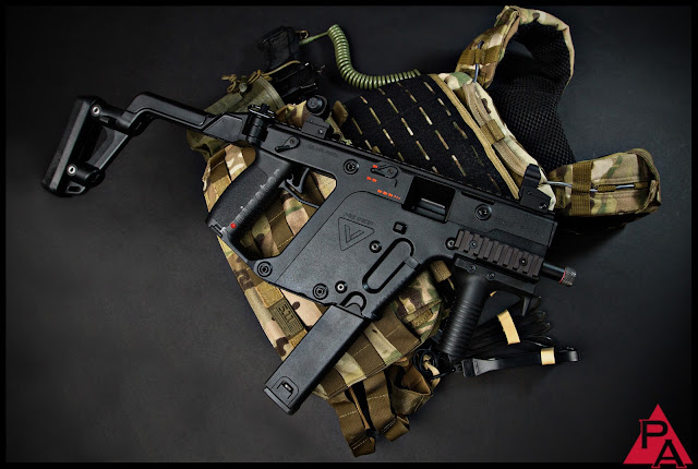 KWA KRISS Vector SMG, KRISS Vector, TDI Vector, Super V System, KRISS SPHINX DEFIANCE, KWA Airsoft guns, airsoft submachine gun, airsoft smg, pyramyd airsoft blog, tom harris media, tominator,