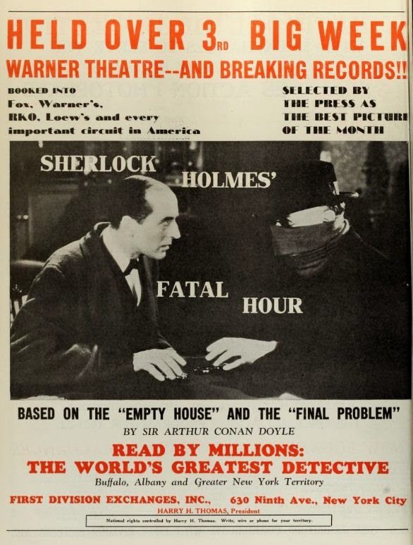 Sherlock Holmes And The Sleeping Cardinal Vintage 1931 Film Poster