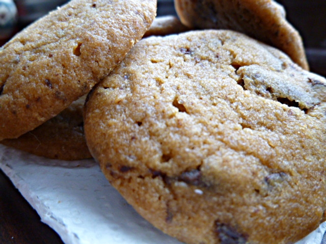 Almond and Honey: Coffee Chocolate Chip Shortbread Cookies