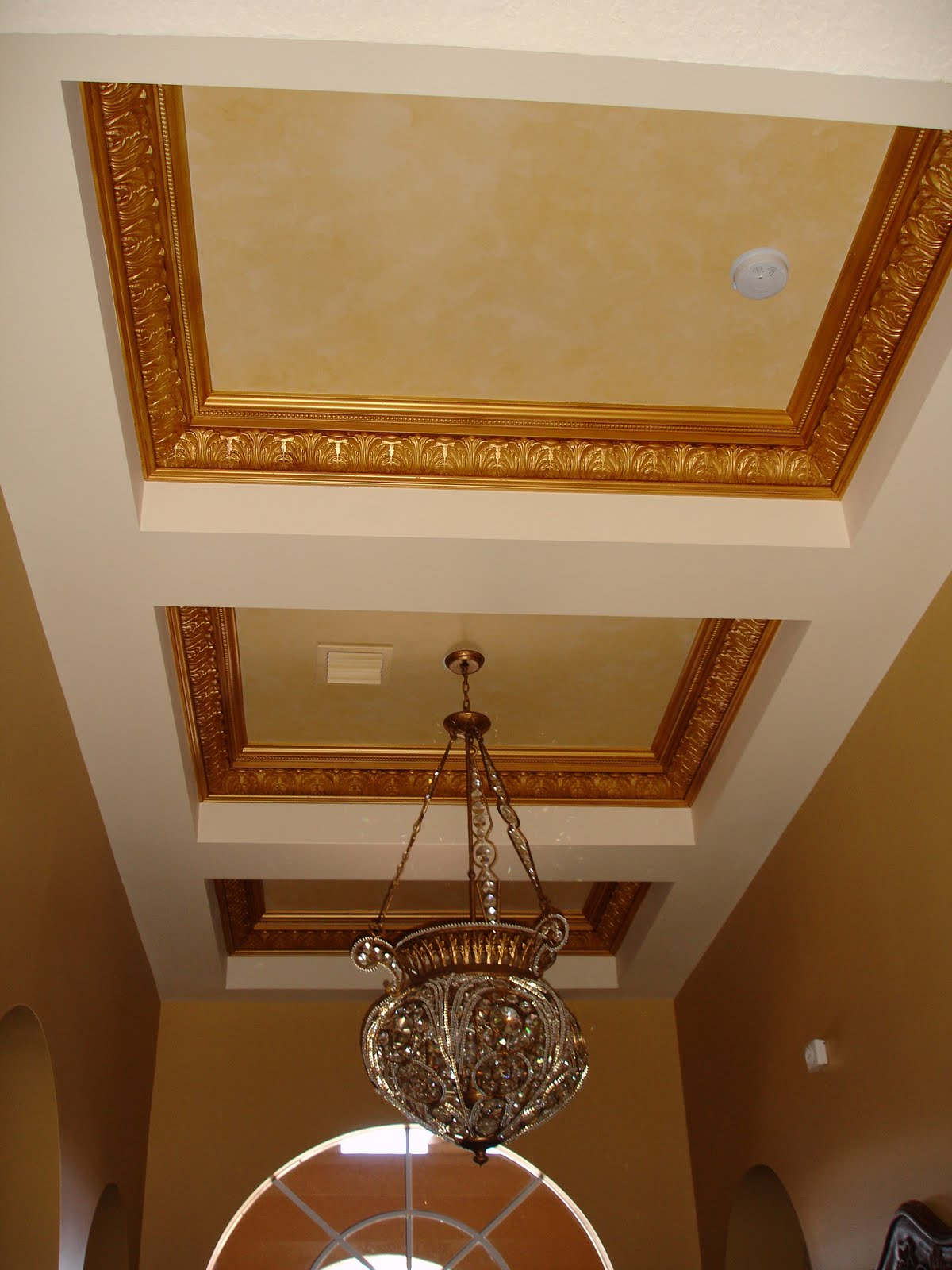 Array of color inc the ceiling for Foam coffered ceiling