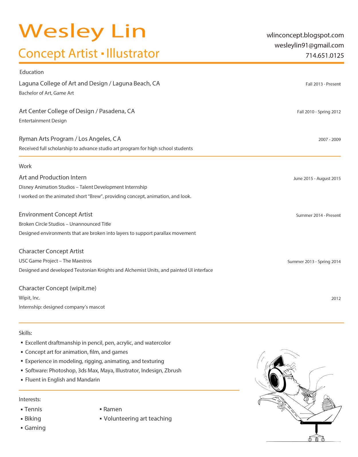 Wesley Lin Design: Contact / Resume