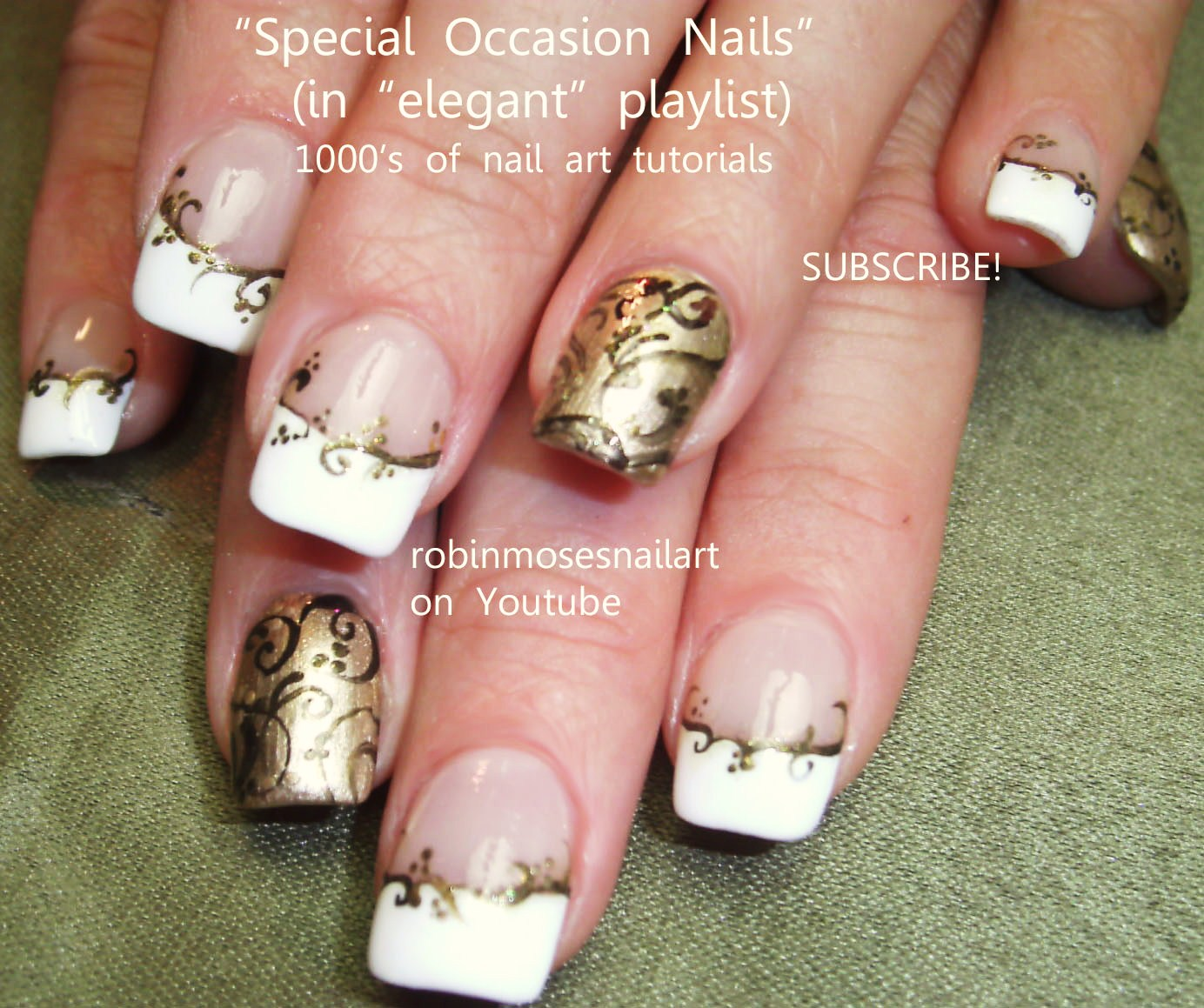 Gold nail designs tumblr