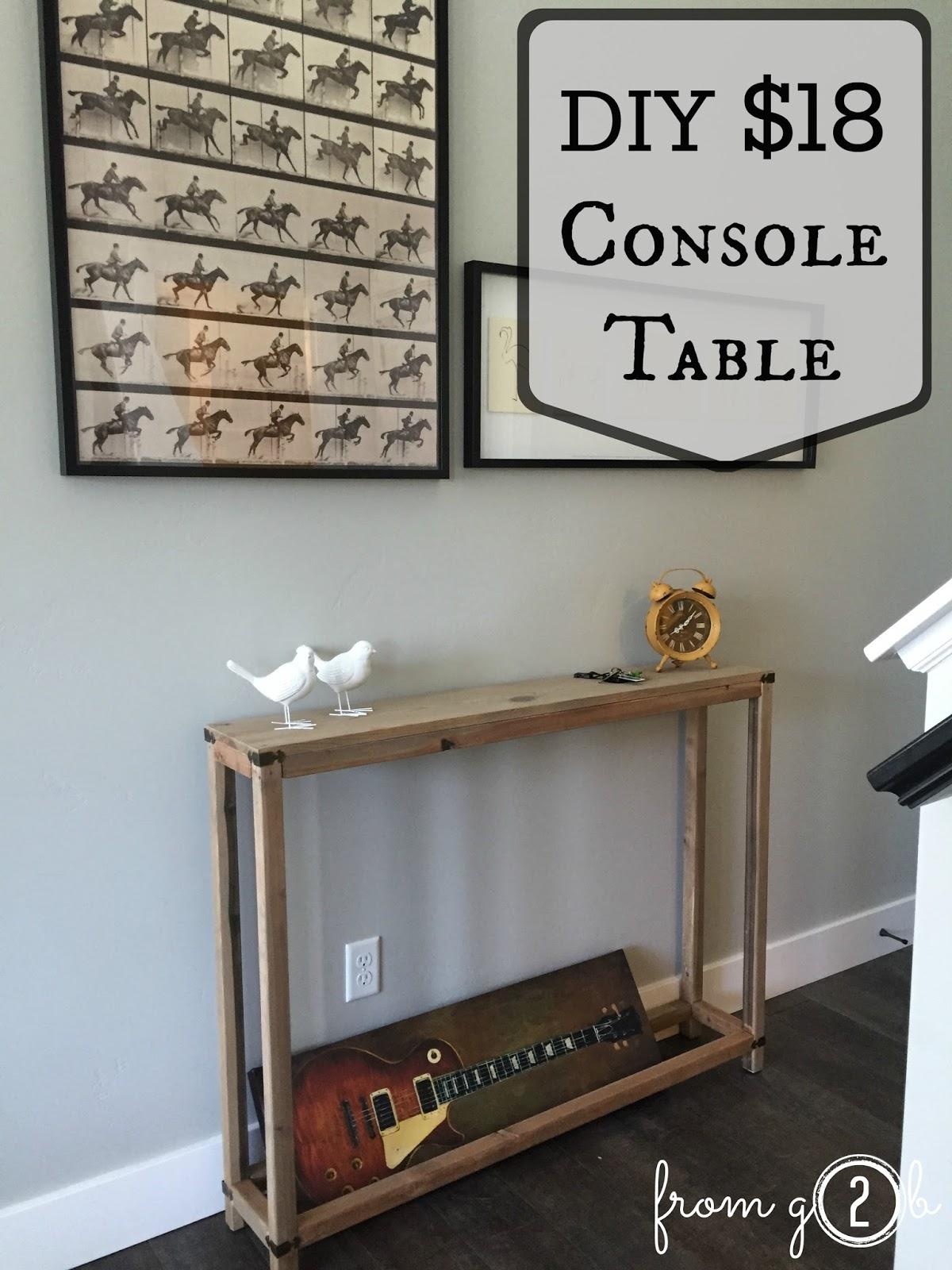 $18 DIY Console Table