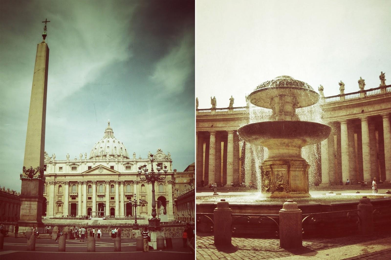 Vatican, St. Peters square, Bernini fountain, Europe, Travel, blog