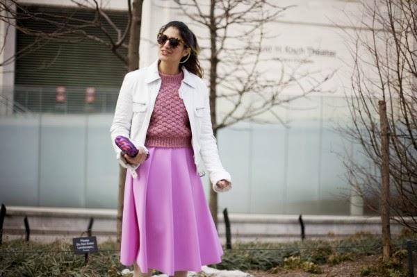 Pink street style