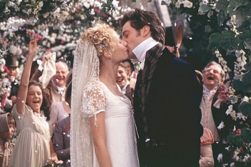 Vintage Wedding Dresses in the movies: Gwyneth Paltrow wears Empire Line as Emma