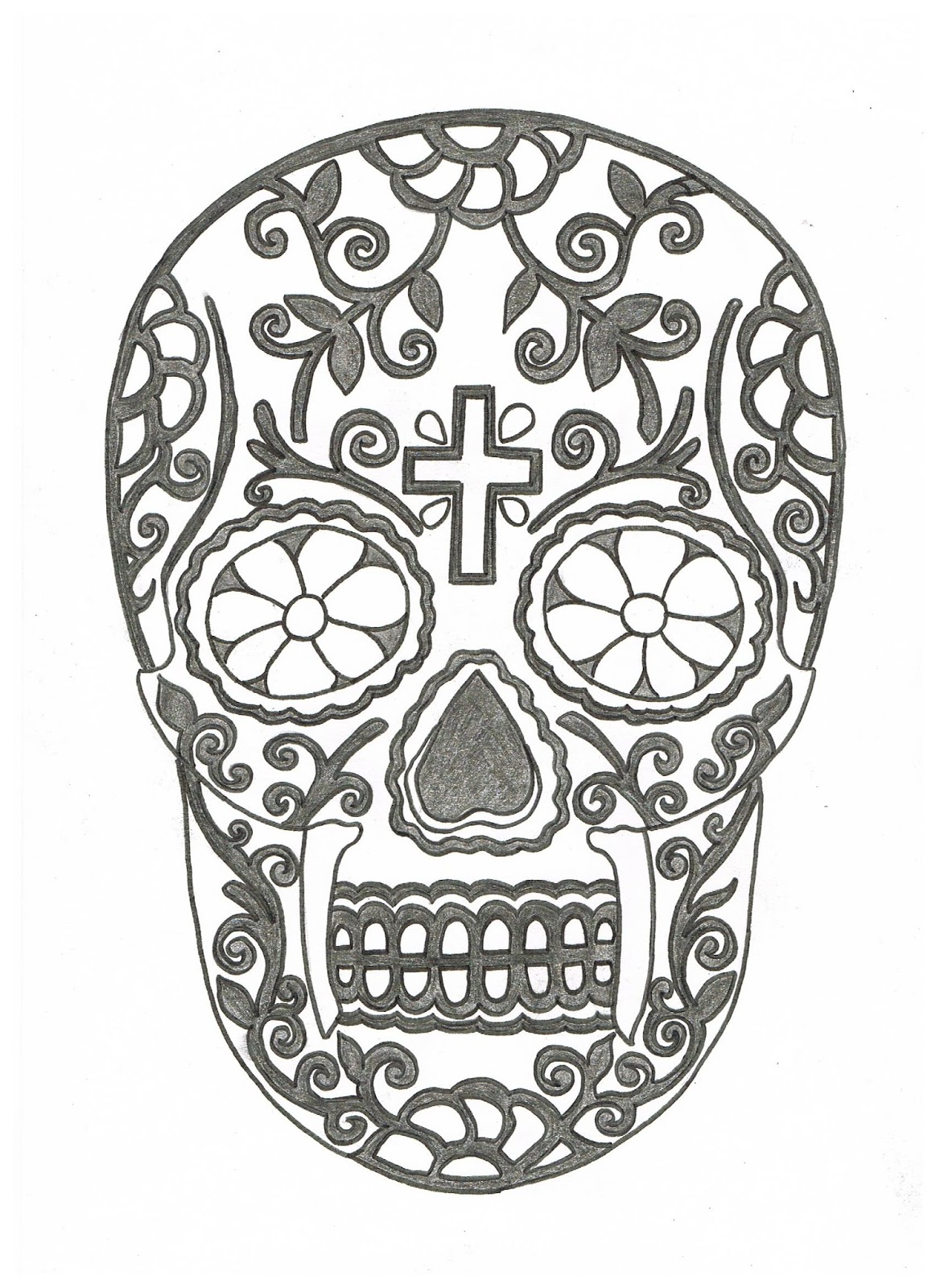 Free coloring pages of calavera