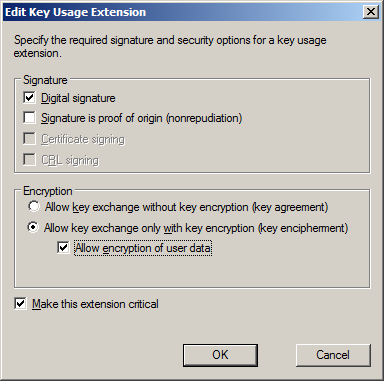 Certificate template allow encryption of user data choice image katalykt preparing a microsoft ca ssl certificate template for encryption of user data in the request yelopaper Images