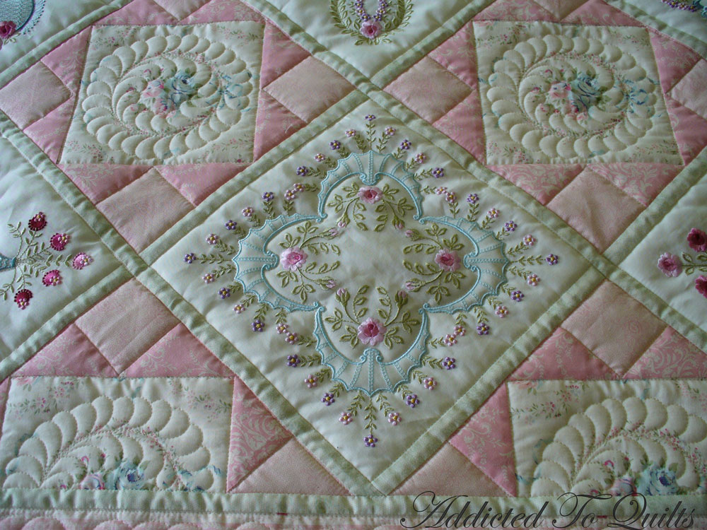Embroidery Quilt Block Designs : Addicted To Quilts: Two Pretty Embroidery Quilts.