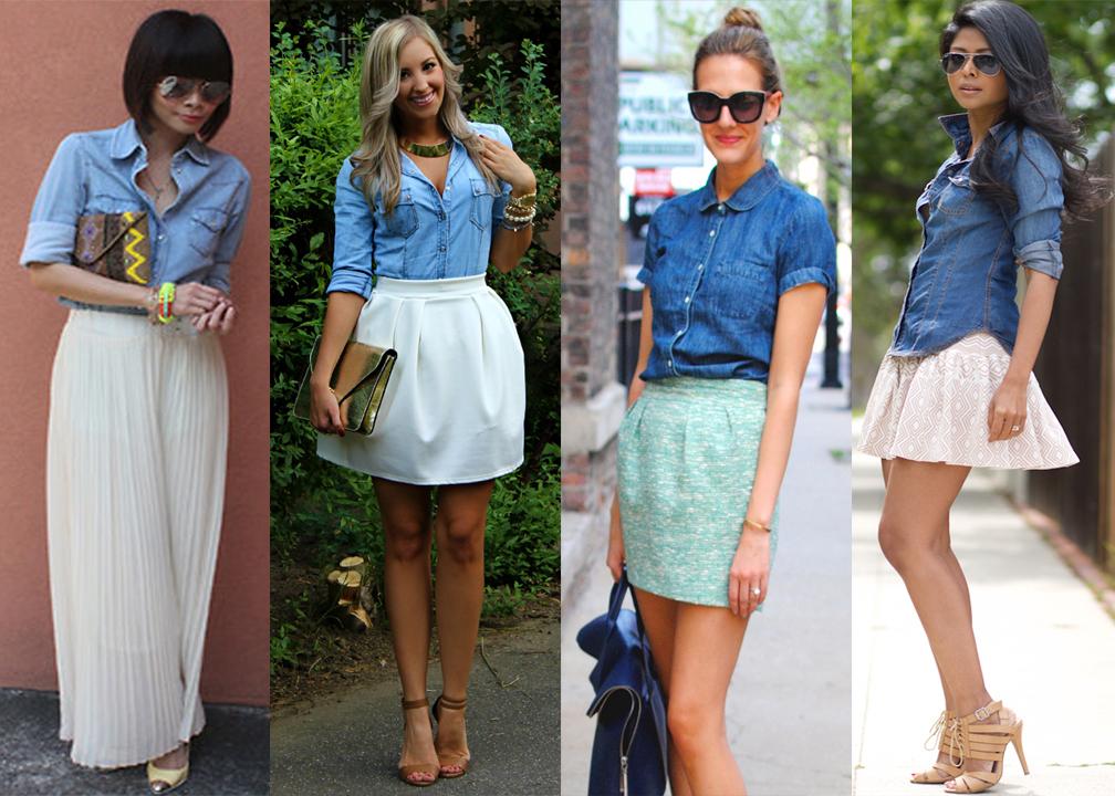 22 stylish ways to wear a denim shirt