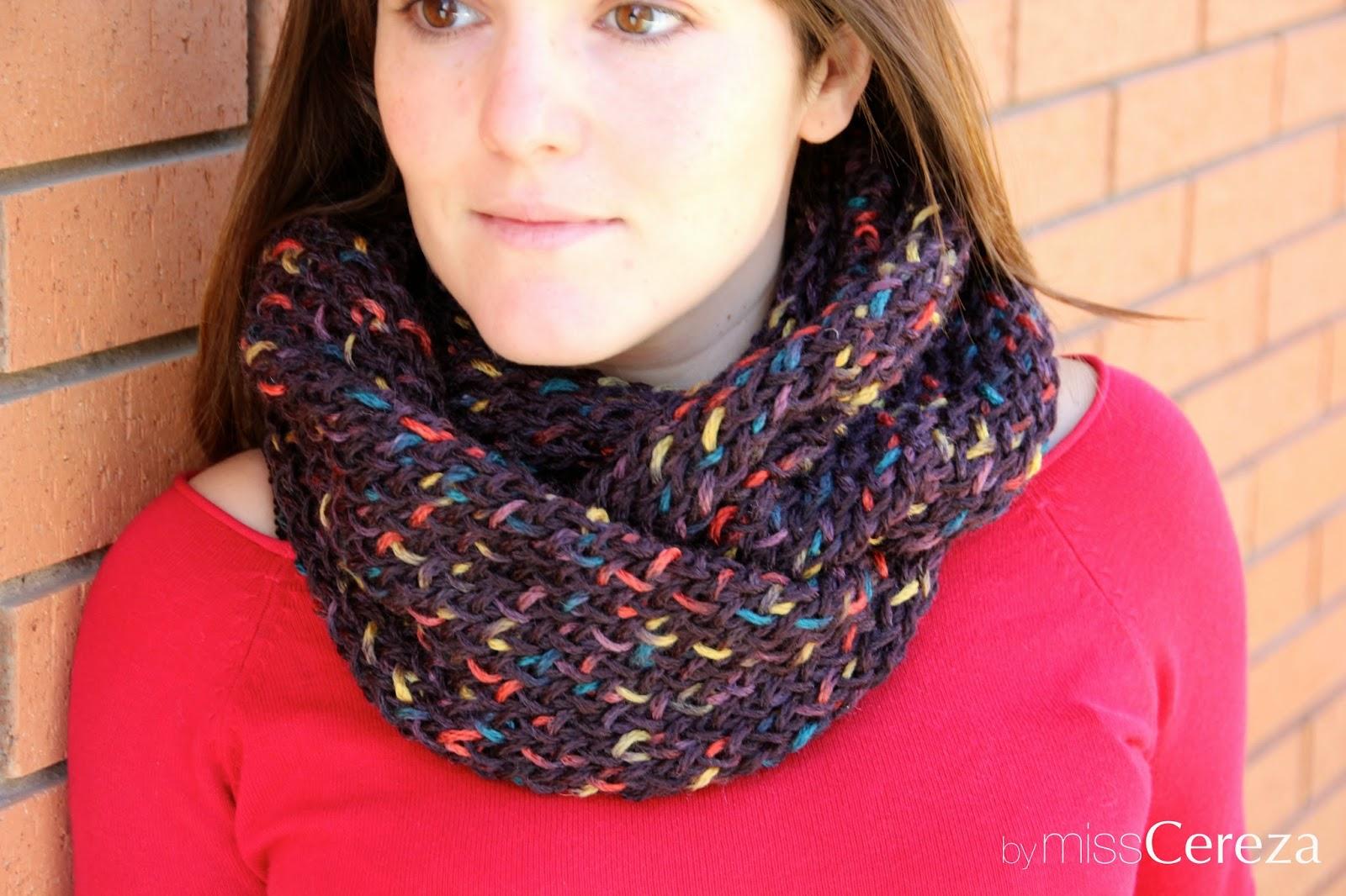 bufanda de doble vuelta de colores