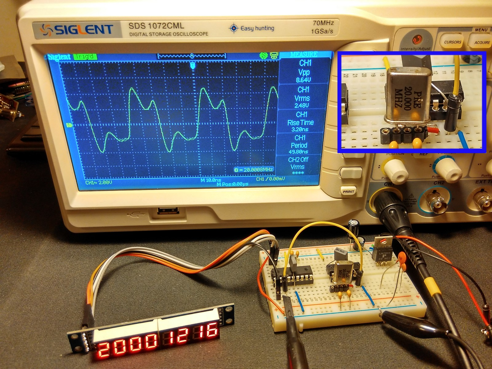 Frequency Counter Preamplifier Circuit : Diyfan mhz frequency counter