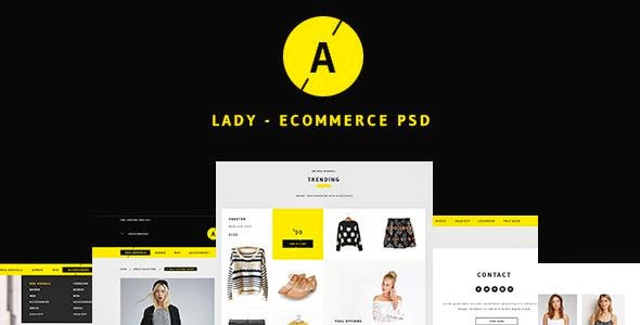 Lady - Sweet eCommerce PSD Template
