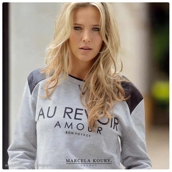 Moda invierno 2014 - Marcela Koury Select catalogo otoño invierno 2014.