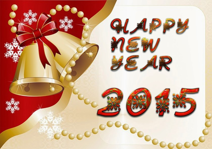 Beautiful Christmas Bell Happy New Year Wallpapers 2015