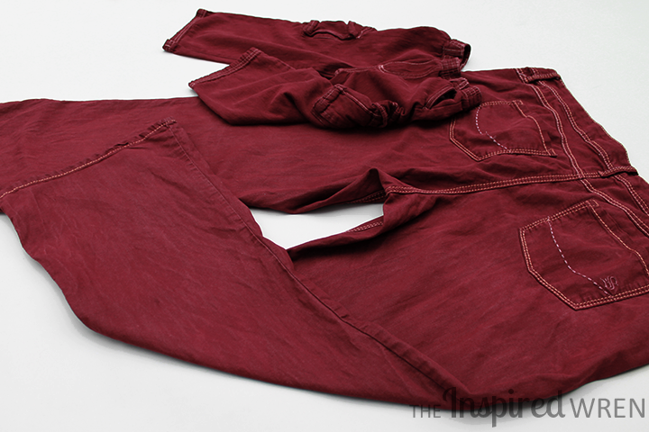 Dye old denim Pantone's Marsala -- color of the year! | The Inspired Wren