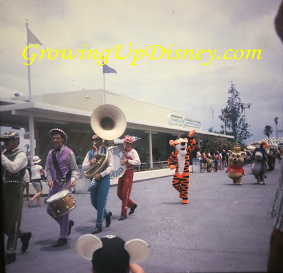 Pooh, Tigger and Eeyore in 1973 Magic Kingdom parade