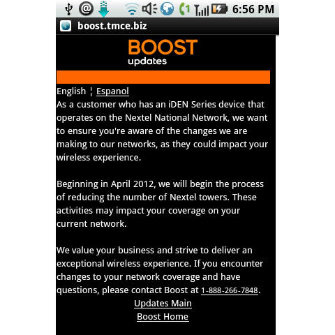 Boost Notifies IDEN Customers of Network Phase Out Beginning Next ...