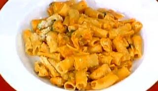 Receta Fideos canuto con pollo y tomate
