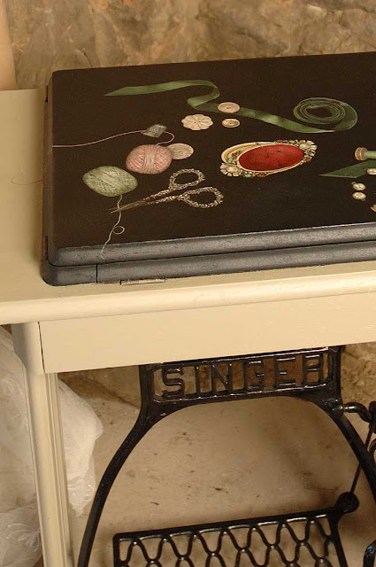 ghost furniture singer sewing table