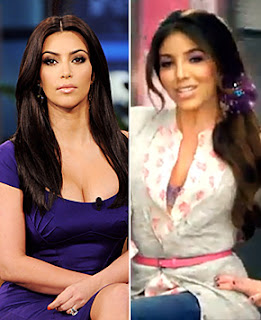 Kim Kardashian on the left, Melissa Molinaro on the right