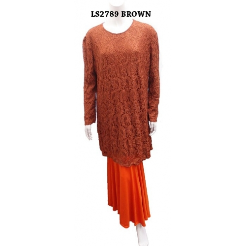 BAJU KURUNG MODEN LACE PLUS SIZE-SOLD OUT