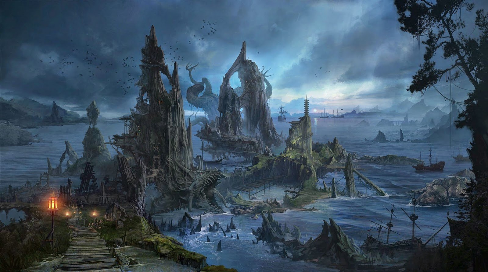 creepy fantasy world hd wallpaper - download awesome wallpapers