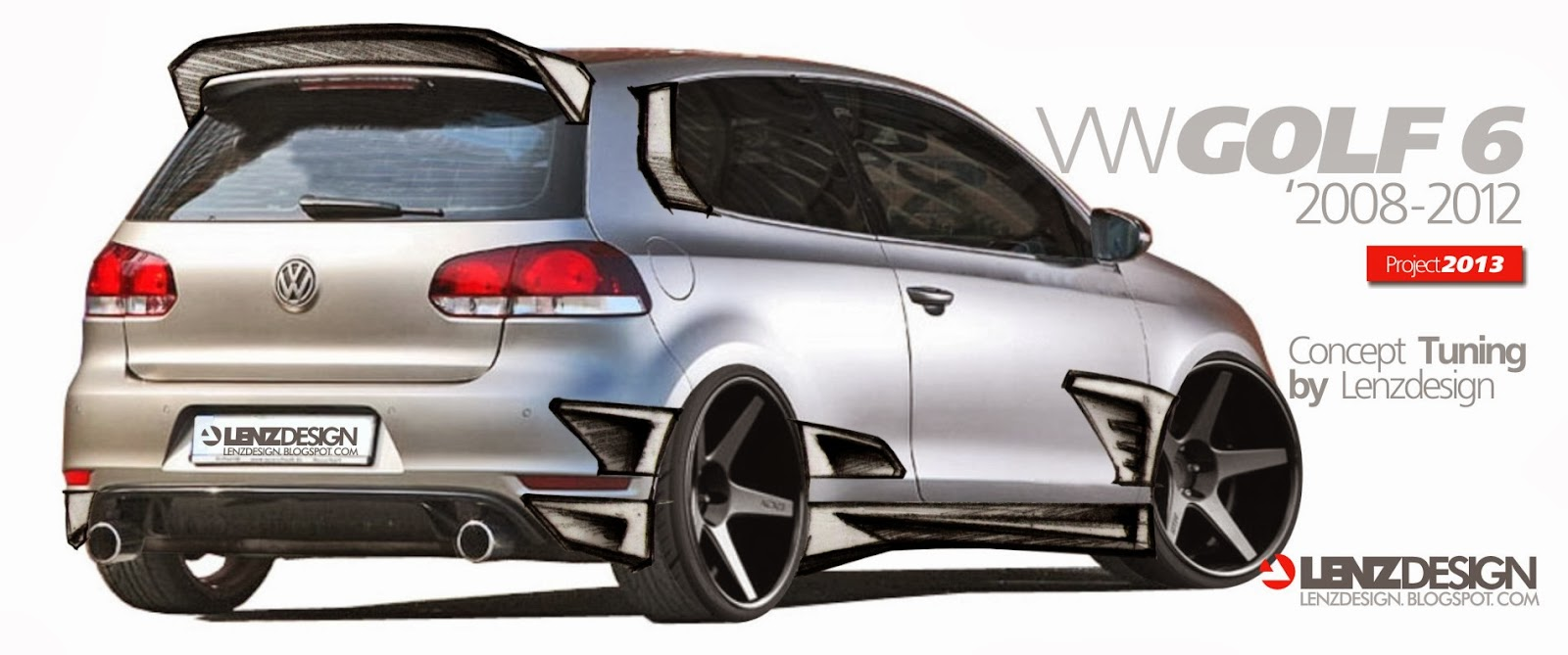 vw golf 6 tuning israel lenzdesign performance body kit project. Black Bedroom Furniture Sets. Home Design Ideas