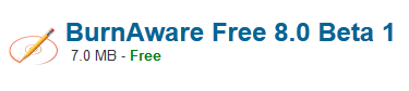 BurnAware Free 8.0 Beta 1 Free Download Latest Version