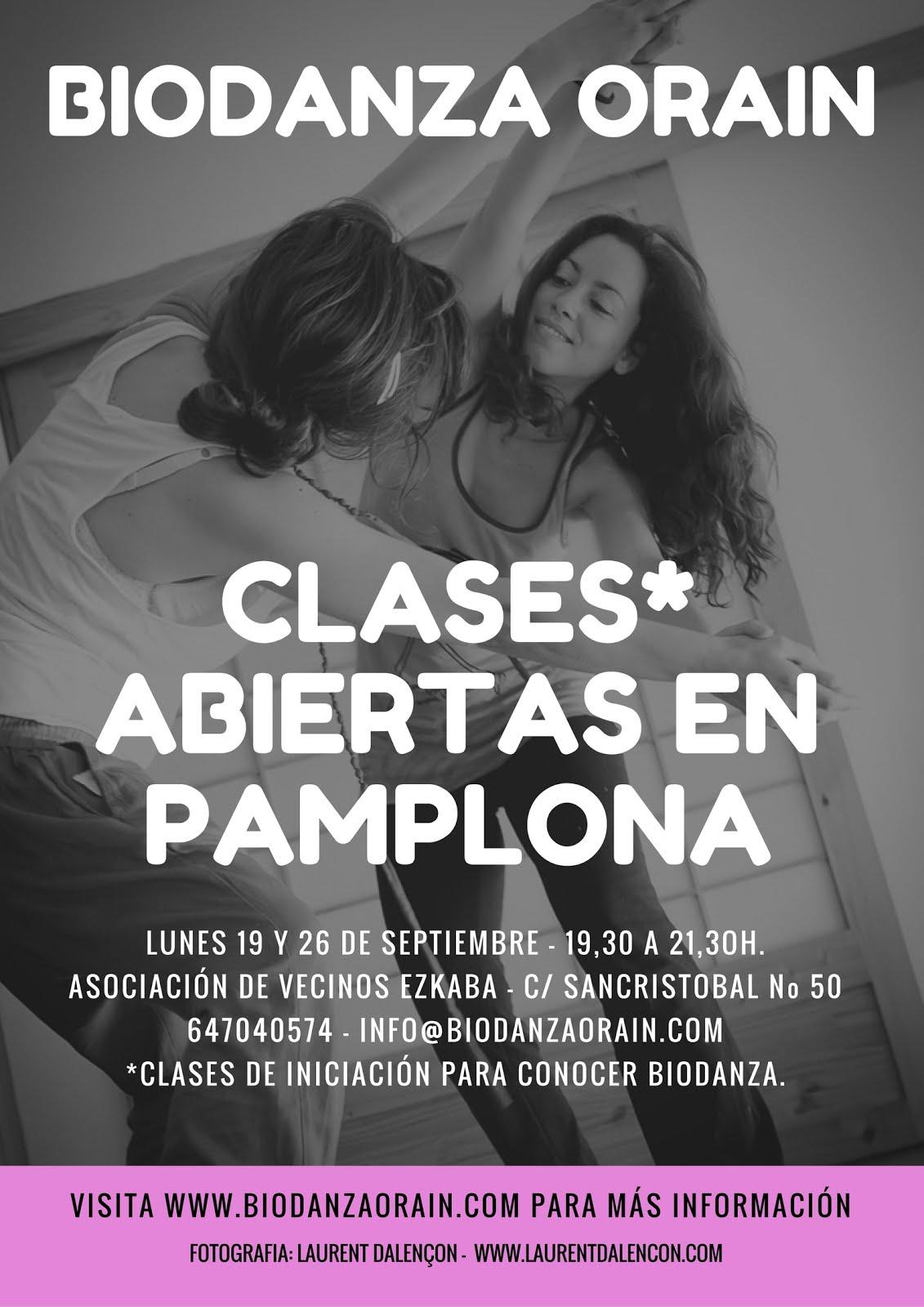 CLASES ABIERTAS EN PAMPLONA