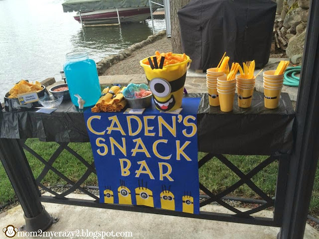 Running away i 39 ll help you pack despicable me birthday for Food bar party ideas