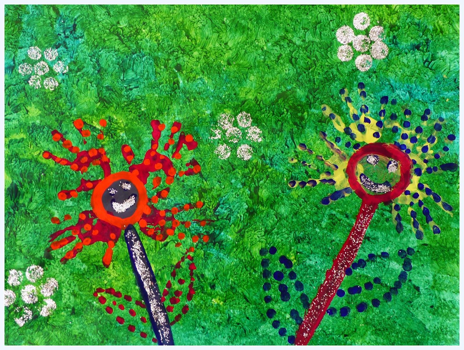 Fleurs du printemps en PS