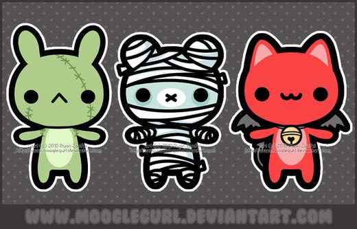 Halloween Cuties por MoogleGurl