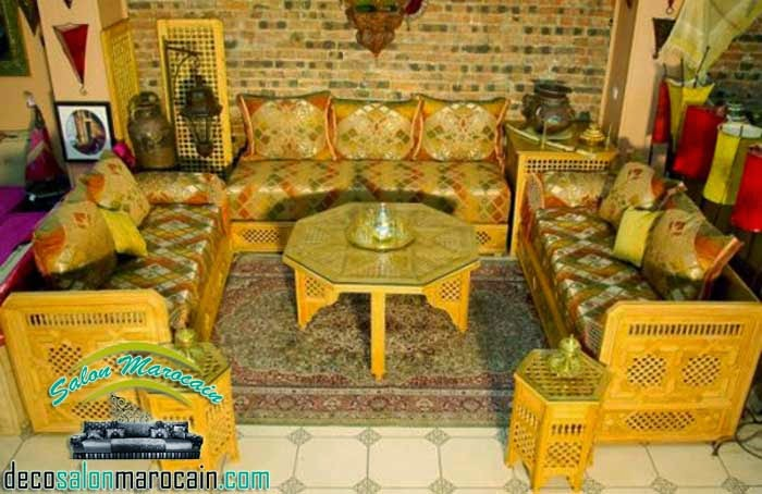 Moved permanently for Salon traditionnel marocain vert