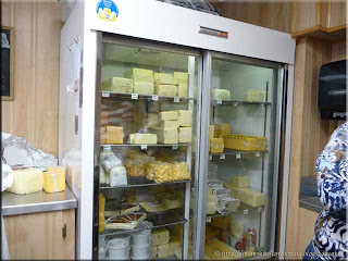 a display case at Oak Grove Cheese Factory Limited