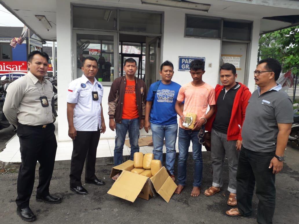 Tersangka Pemilik Ganja 15 Bal Diamankan Satres Narkoba Polrestabes Medan