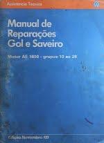 MANUAIS DE REPARAÇÃO GOL / SAVEIRO (MOTOR AE 1600)