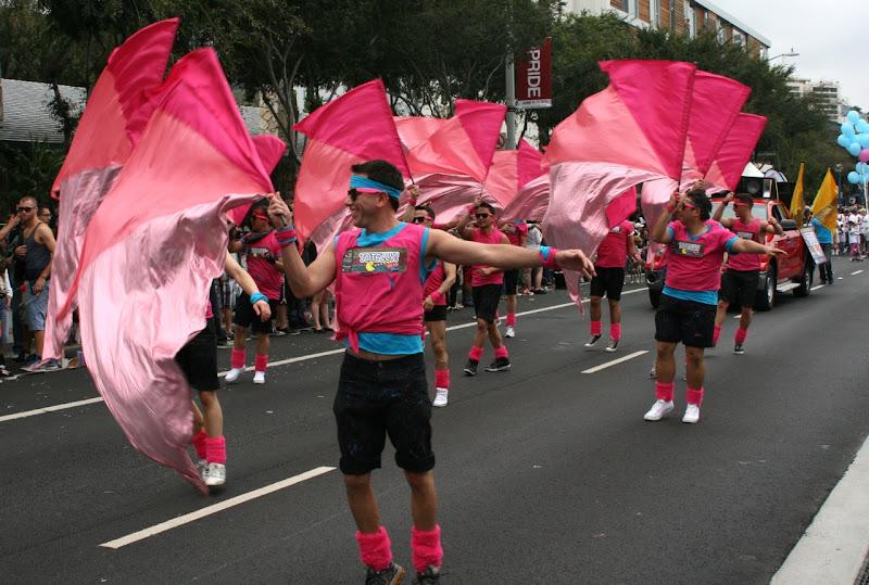 Gay Mens Chorus Parade flags
