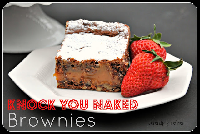 Knock you naked easy chocolate caramel brownie  dessert recipe bake