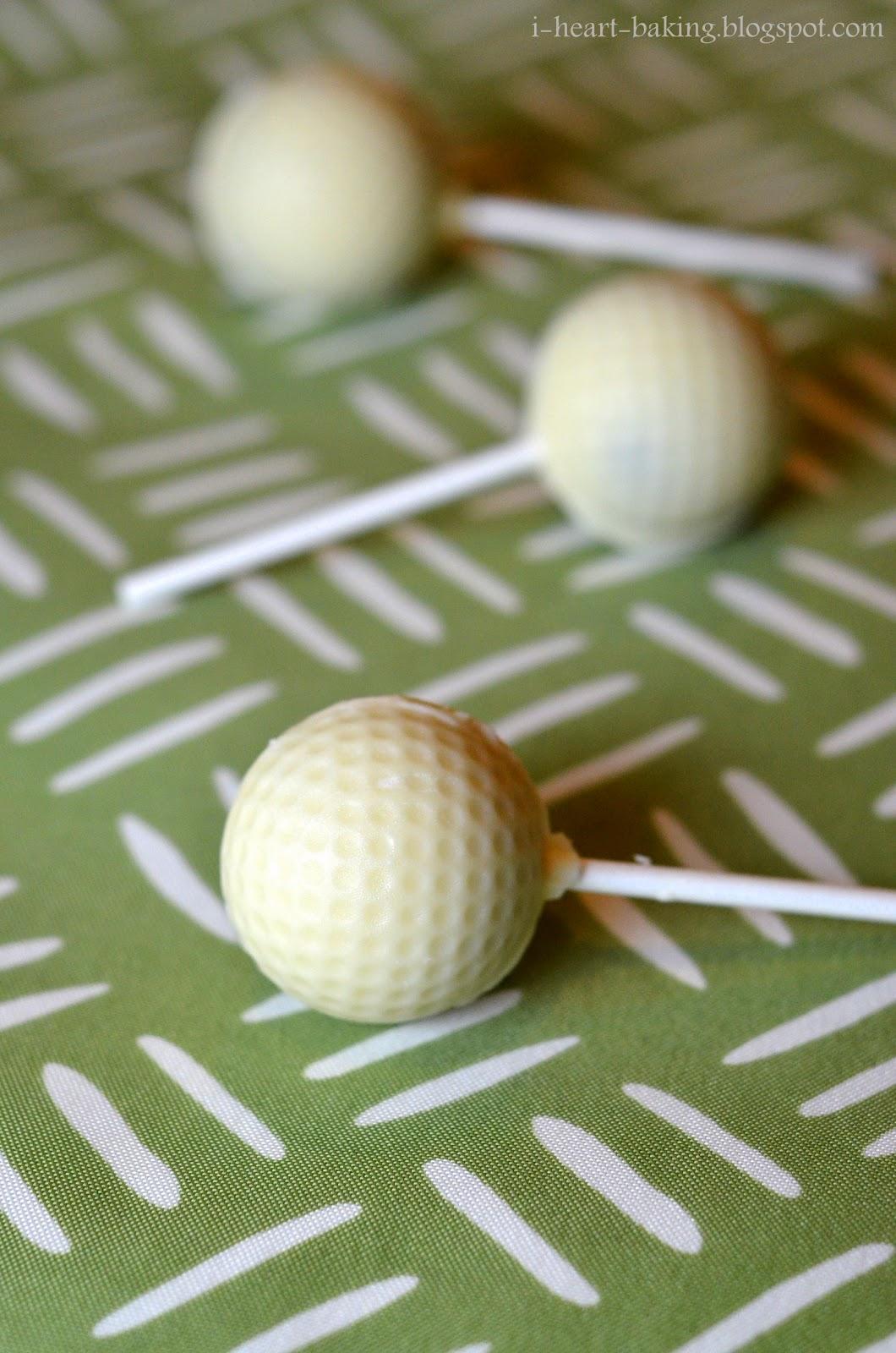 I Heart Baking Golf Ball Cake Pops