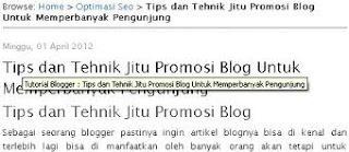 Menambah title otomatis di setiap judul postingan blog