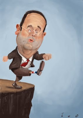 François Hollande caricature