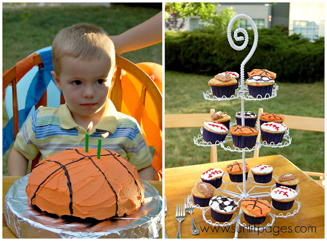 Basketball birthday cake - one of 15 Awesome Birthday Cakes for Kids