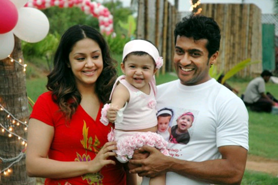 Suriya wife Jyothika and daughter
