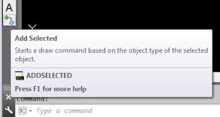 Addselected cara unik membuat perintah AutoCAD.